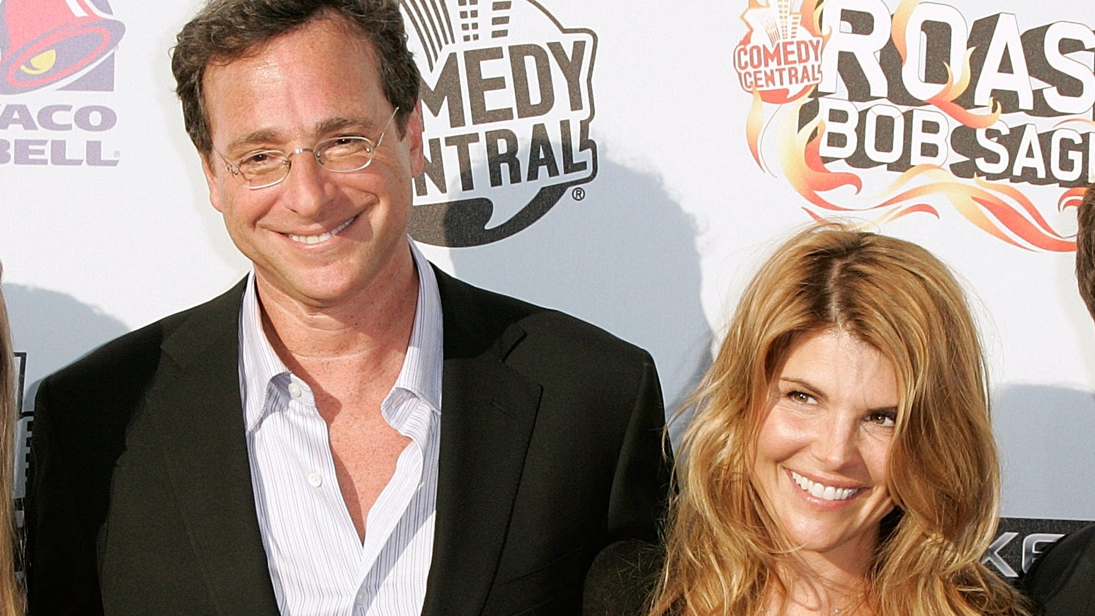 Bob Saget with Lori Loughlin at Warner Brothers Studios on Aug. 3, 2008 in Burbank, California.