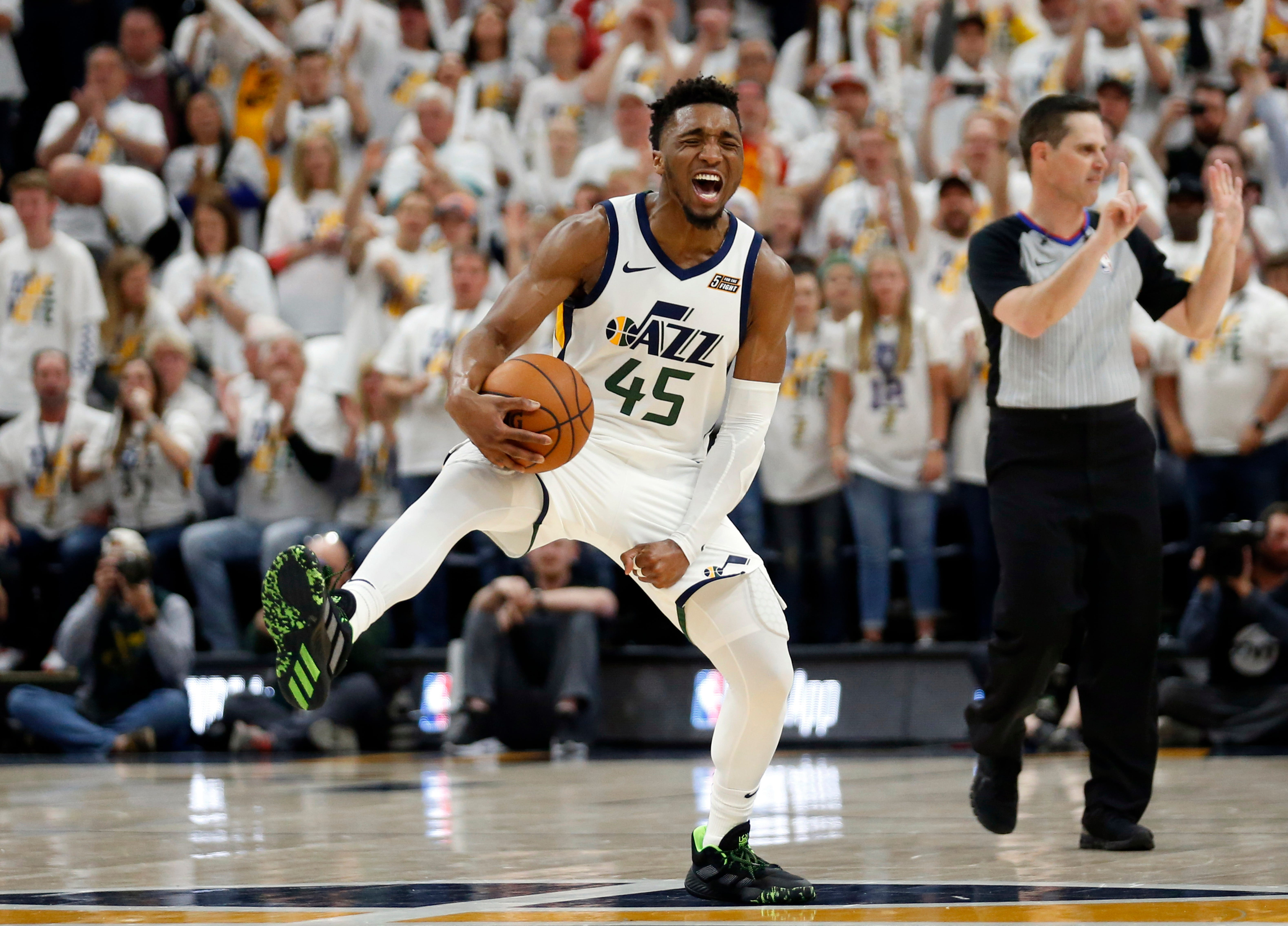 Donovan Mitchell's huge fourth quarter helps Jazz stave off elimination vs. Rockets