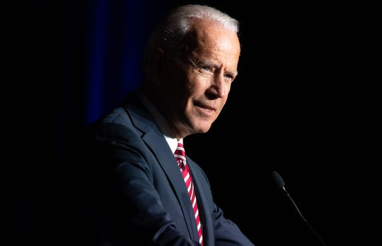 Former Vice President Joe Biden during the First State Democratic Dinner in Dover, Delaware, in March 2019.