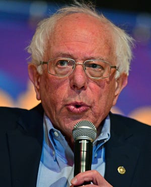 Sen. Bernie Sanders, I-Vt., speaks at an Ohio workers town hall meeting, Sunday, April 14, 2019, in Warren, Ohio.