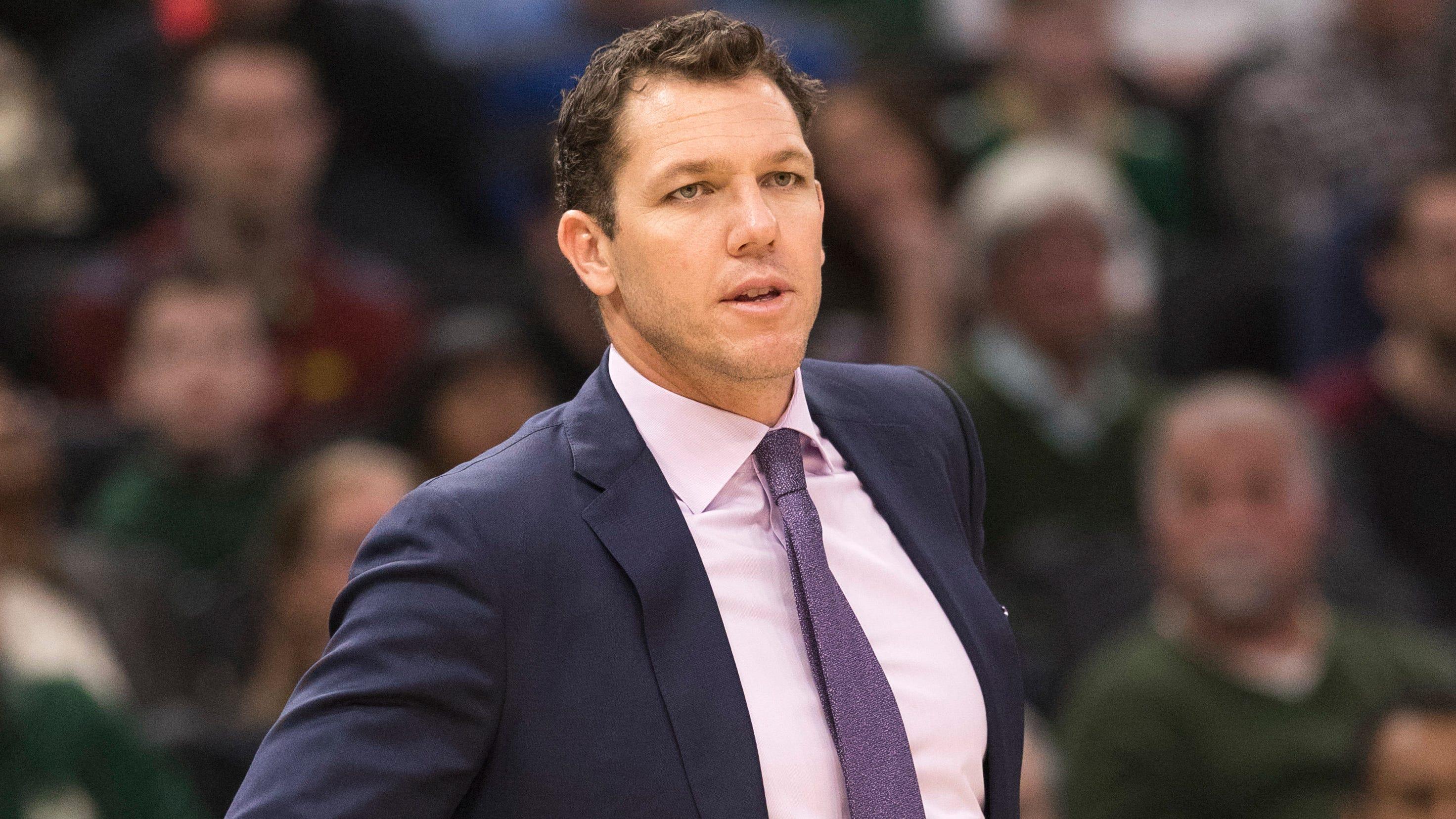 Luke Walton, now the coach of the Sacramento Kings.