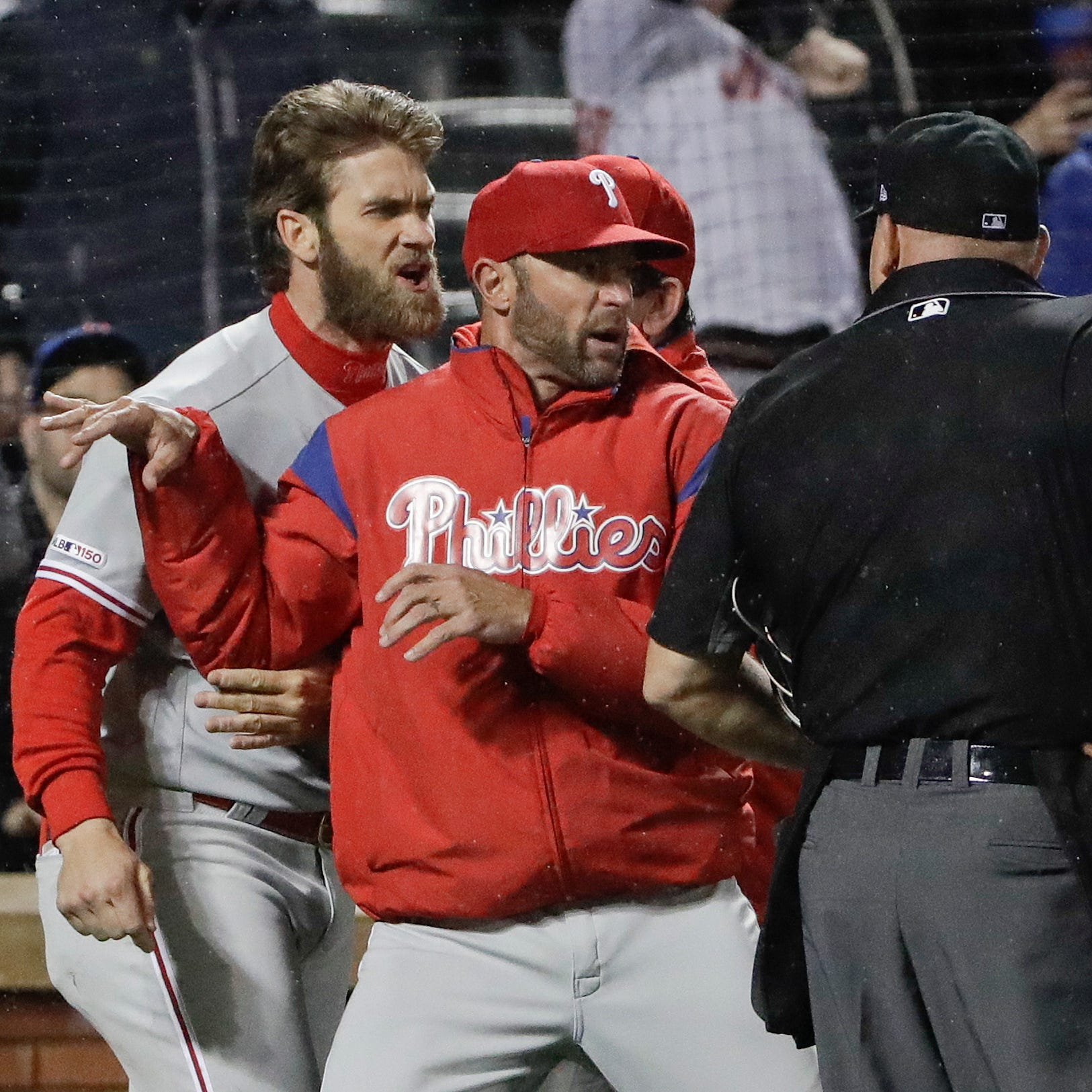 Bryce Harper ejected for first time as a Philadelphia Phillie