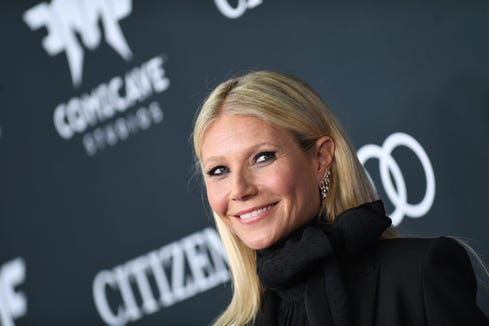 """US actress Gwyneth Paltrow arrives for the World premiere of """"Avengers: Endgame"""" on April 22, 2019 in Los Angeles."""