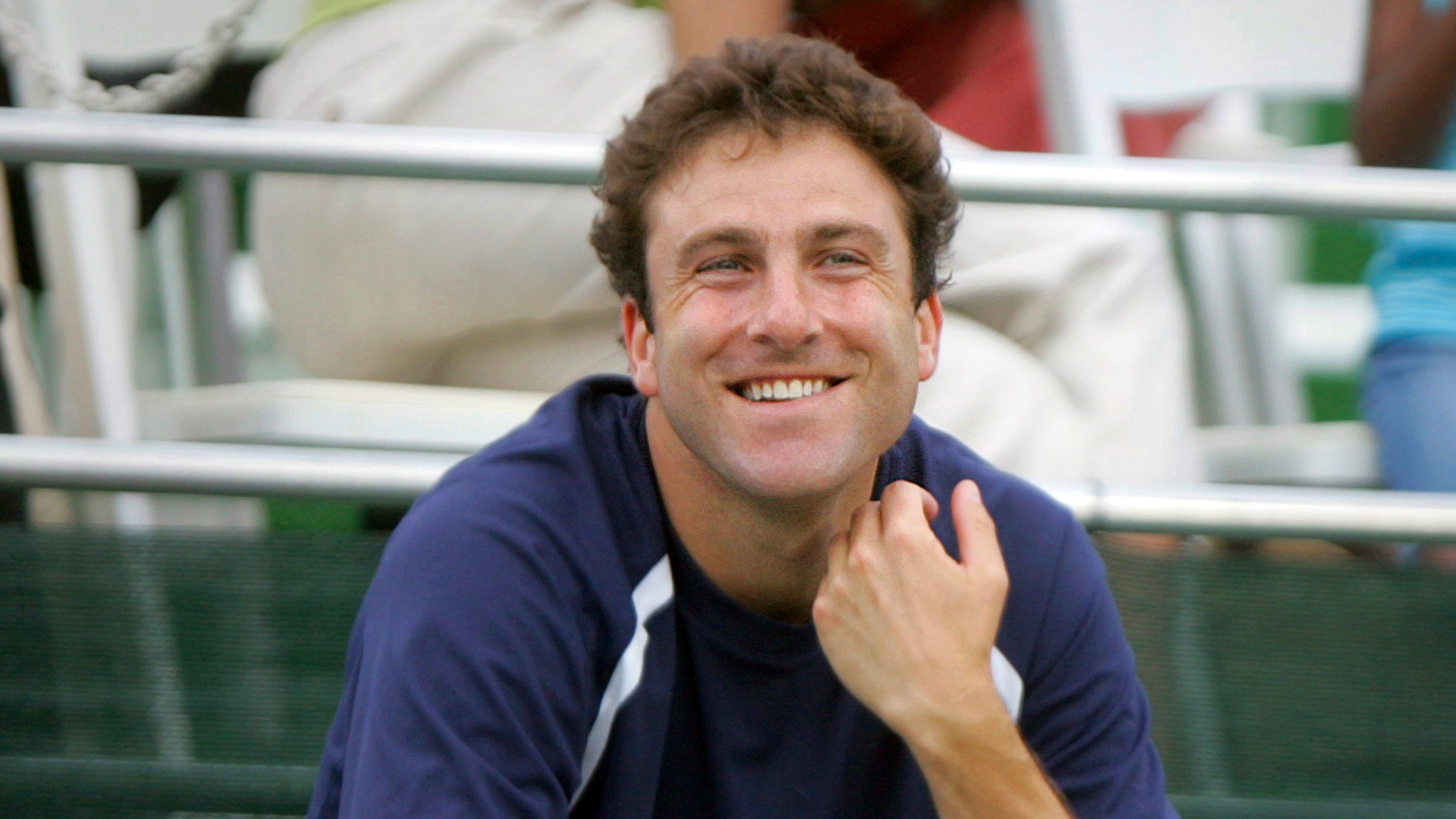 Justin Gimelstob, shown in July 2008 at a World Team Tennis match.