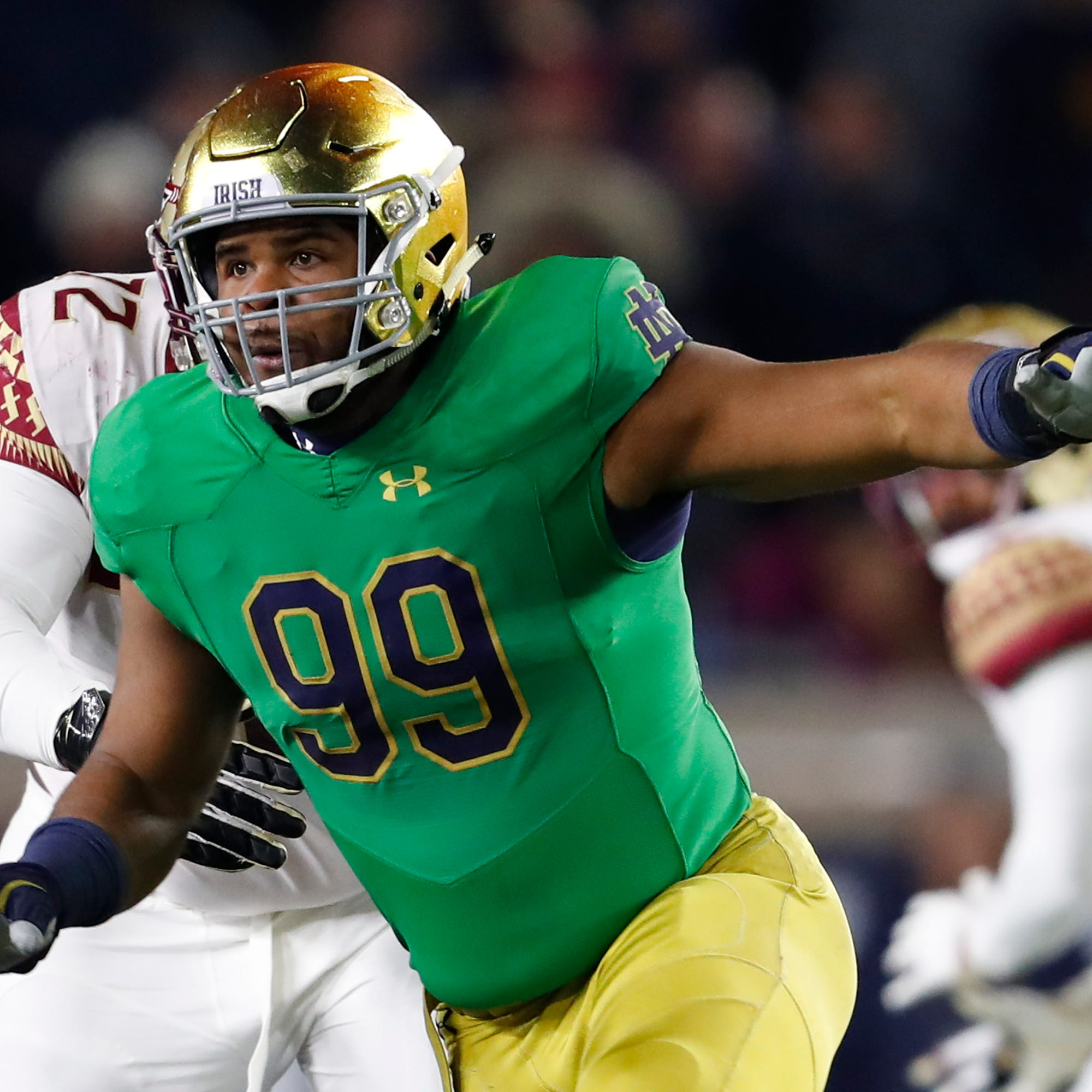 Former Evangel star Jerry Tillery selected 28th by Chargers