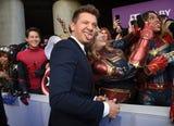 "Robert Downey Jr., Scarlett Johansson, Chris Hemsworth, Chris Pratt, Letitia Wright, Natalie Portman, Zoe Saldana at premiere of ""Avengers: Endgame."""