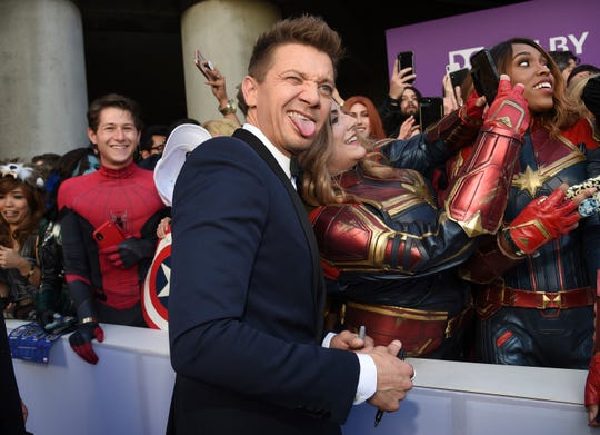 Scarlett Johansson puts her back tattoo on display at 'Avengers: Endgame' premiere