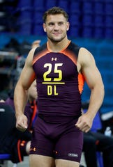 Ohio State's Nick Bosa figures to be among the top two or three picks in Thursday's NFL Draft.