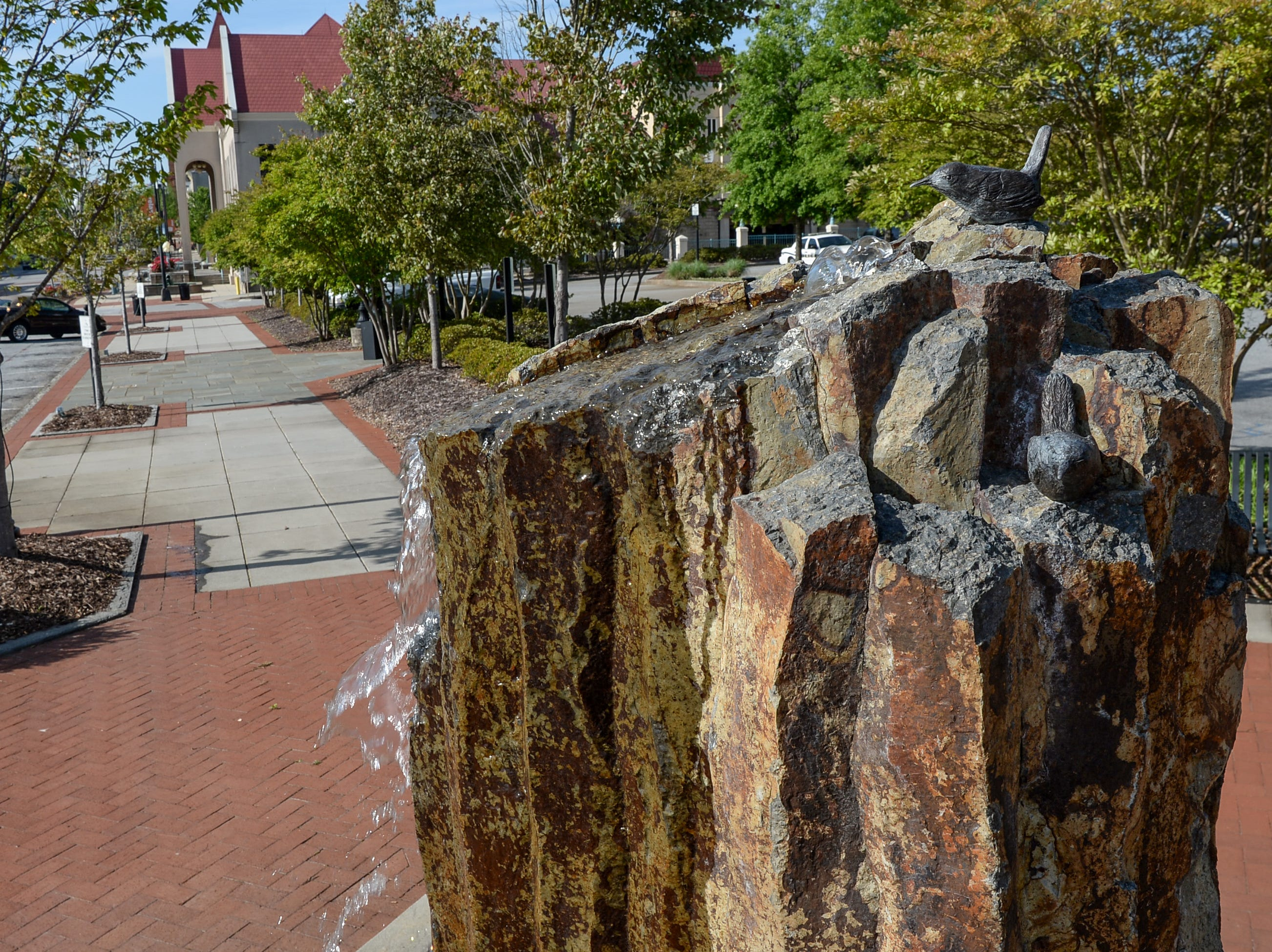 The Wren Fountain on South Main Street is a project that To Benefit Anderson group has completed since the first in 2007. The Foothills Community Foundation joined with the group in raising money for the projects.