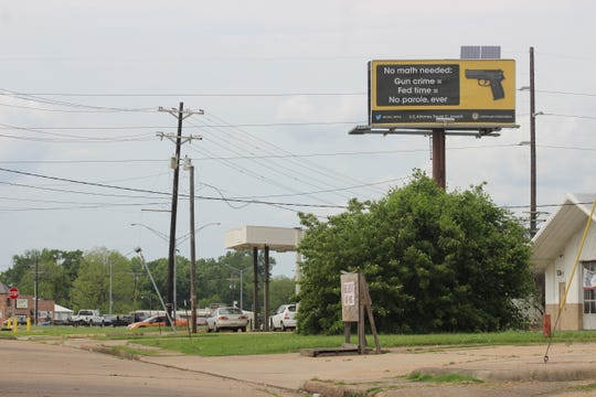 Several months ago, a billboard near the MacArthur Drive and Rapides Avenue intersection in Alexandria displayed this warning about gun crime penalties under federal jurisdiction.