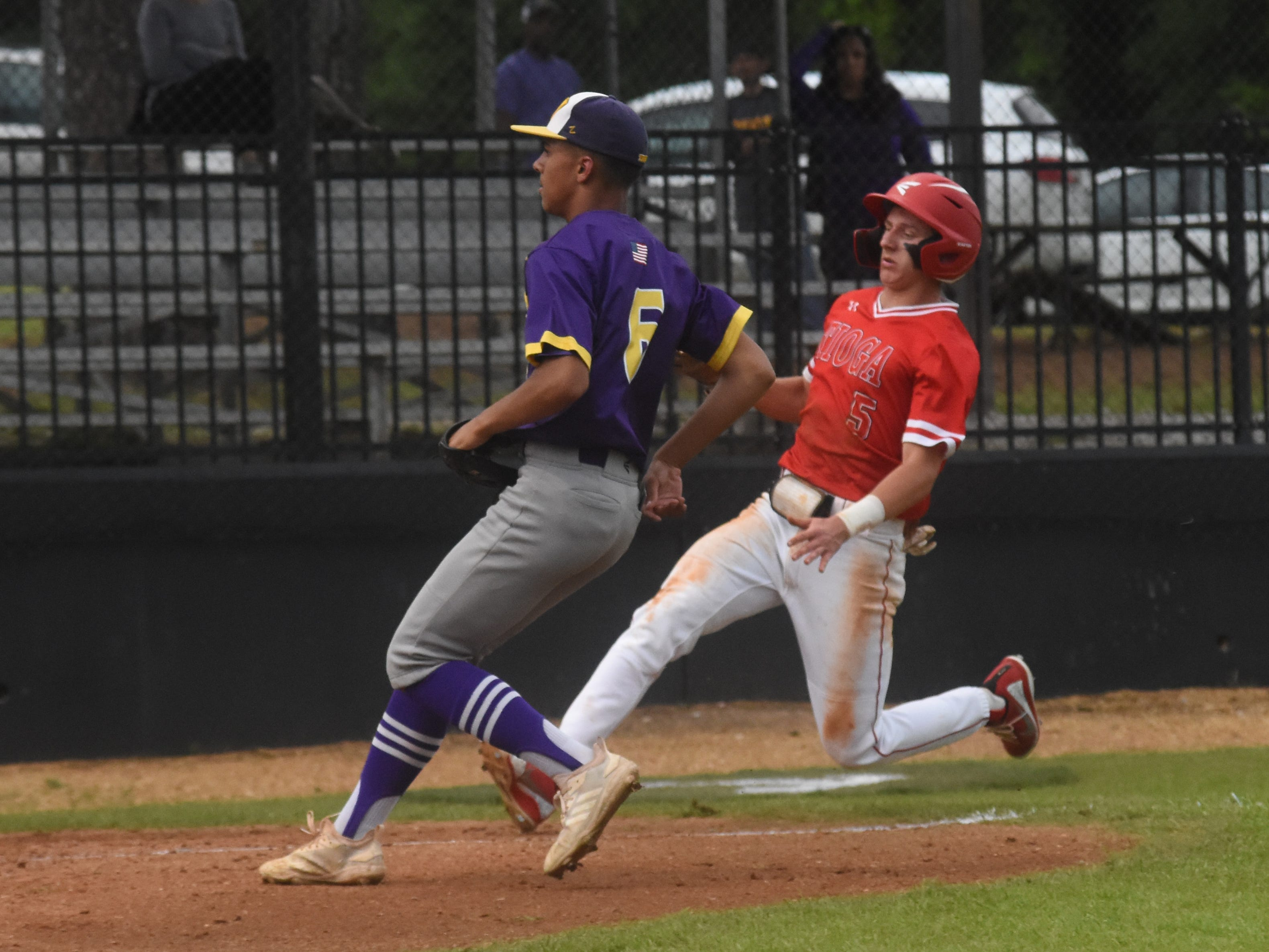 Tioga High School vs. Westgate High School Tuesday, April 23, 2019 in the  2019 Allstate Sugar Bowl/LHSAA Baseball State Tournament Class 4A playoff game. Tioga won 10-0.