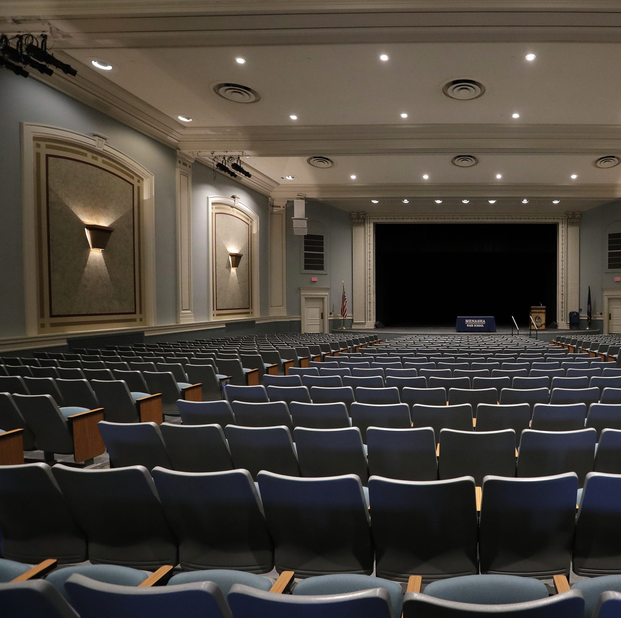 Musty odor inside Menasha High School auditorium lingers despite multiple cleanings
