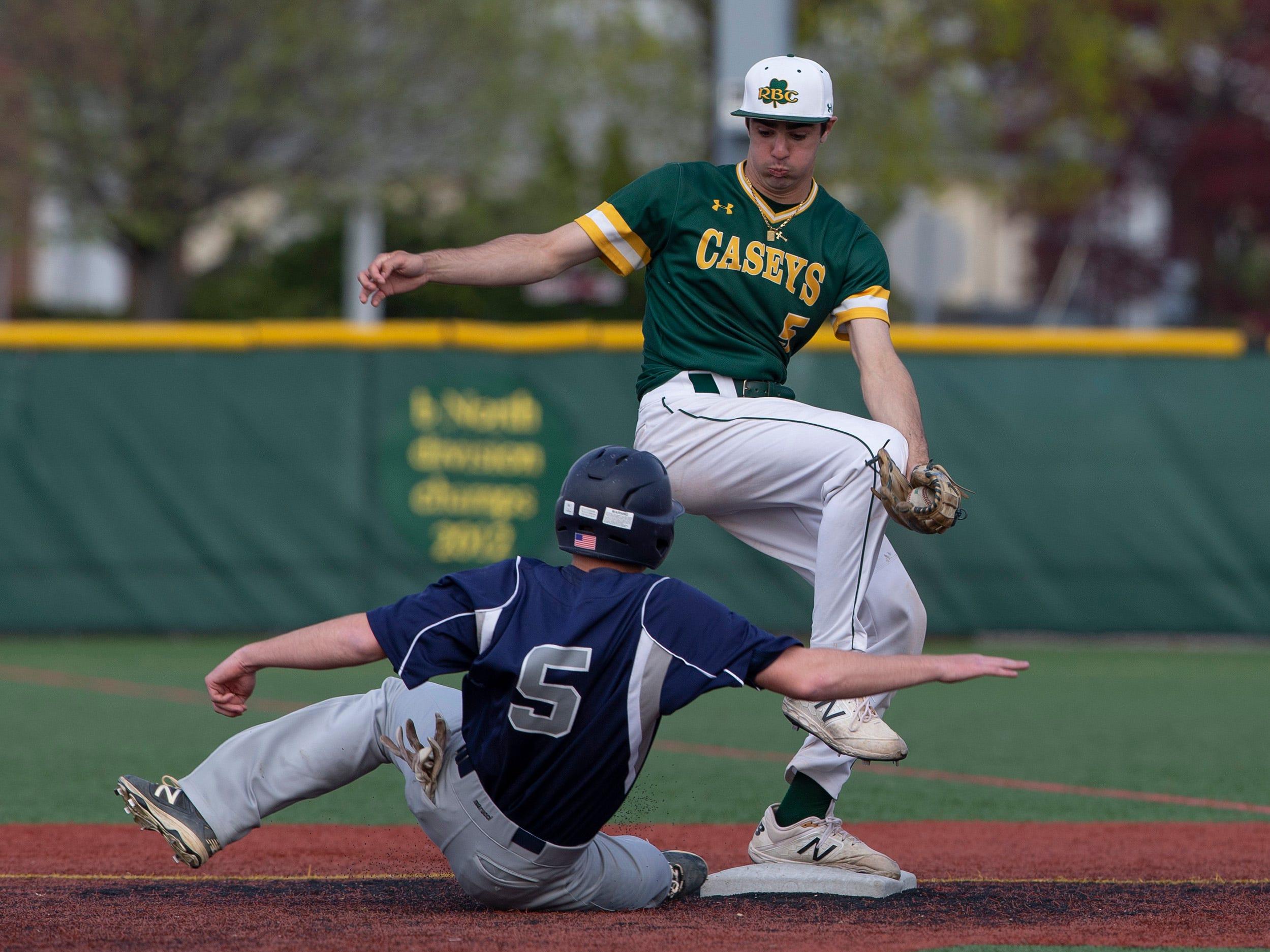 Manasquan baseball vs Red Bank Catholic in Red Bank, NJ on April 18, 2019.