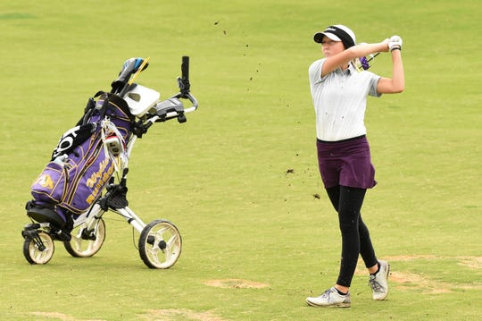 Wylie's Brylee Valentine is one of three seniors finishing their high school careers at the Class 5A state tournament starting Monday at the White Wing Golf Club in Georgetown.