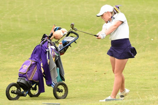 Andrea Davis helped the Wylie girls golf team overcome a seven-shot deficit in the second round to move into third at the Region I-5A tournament. The three Lady Bulldog seniors will now have one final tournament, at 5A state.