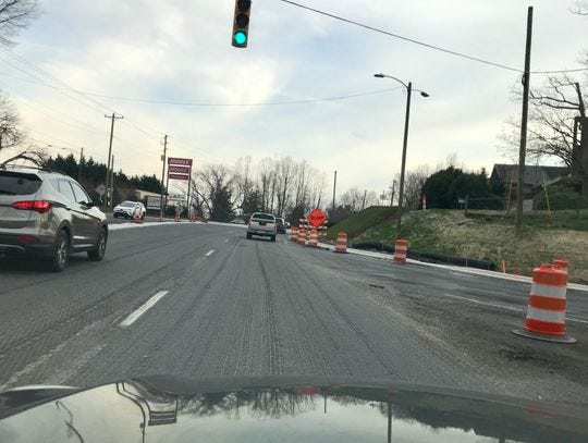The final paving on Hendersonville Road at exit 50 off I-40 should take place in the coming days.
