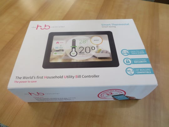The Hub controller, which claims to be able to save the average homeowner up to 30 percent on home energy bills.