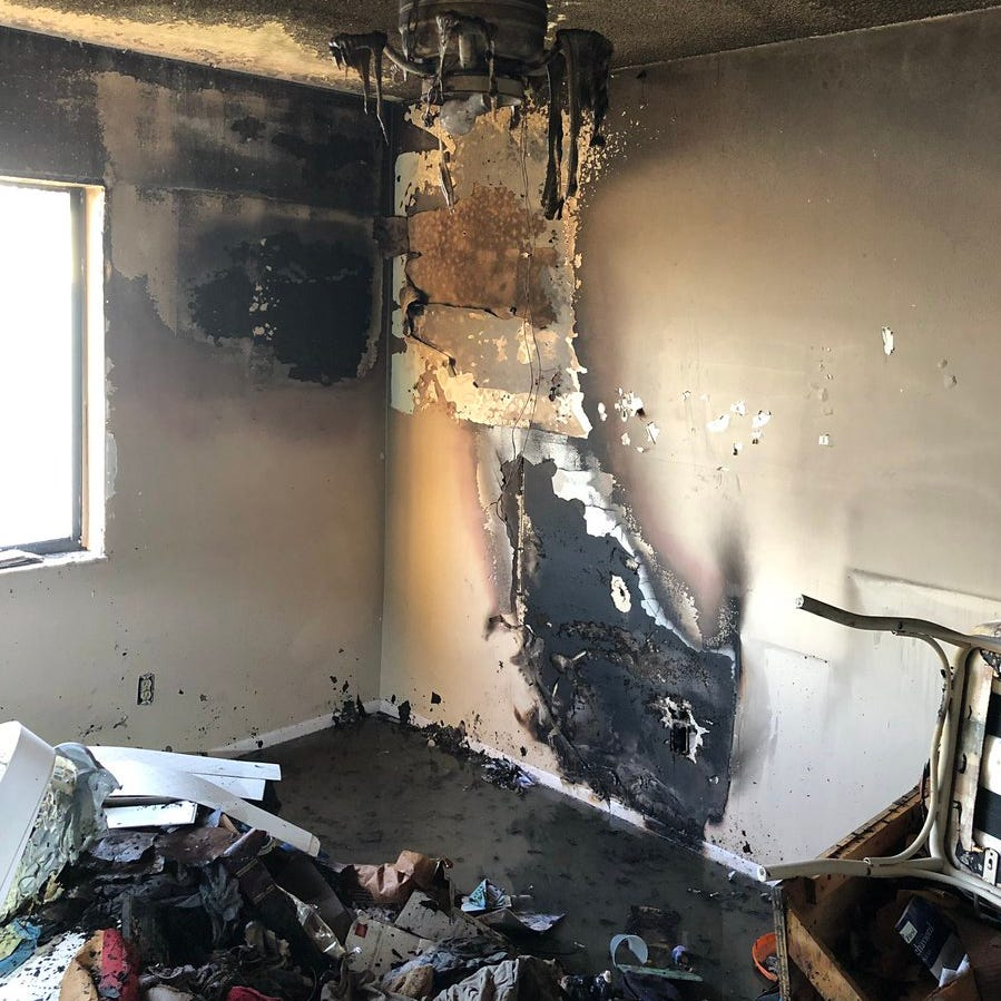The Titusville Fire Department respondedat 6:15 a.m. to a report of a bedroom fire at the Pelican Point Condominiums in the 2400 block of South Washington Avenue.