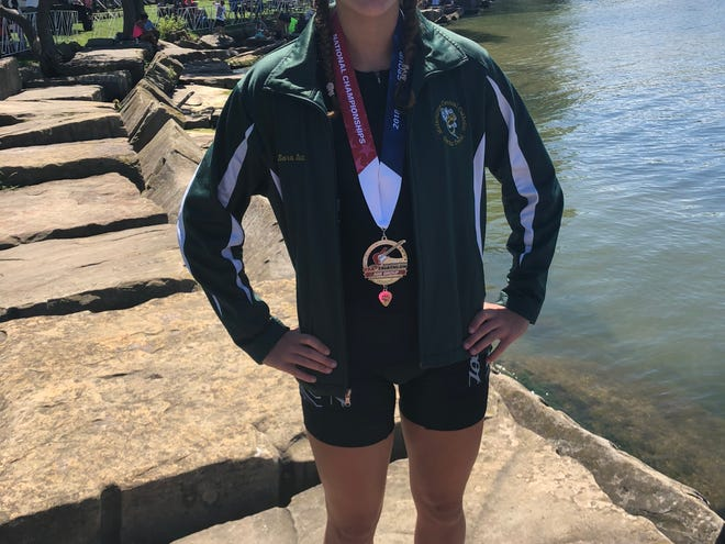 Sara Sutton, a former four-sport athlete at Melbourne Central Catholic and Florida Diary Farmers Academic All-State selection, had competed at the 2018 USA Triathlon Olympic Age Group National Championships, where she finished 32nd. This past year, she placed ninth.