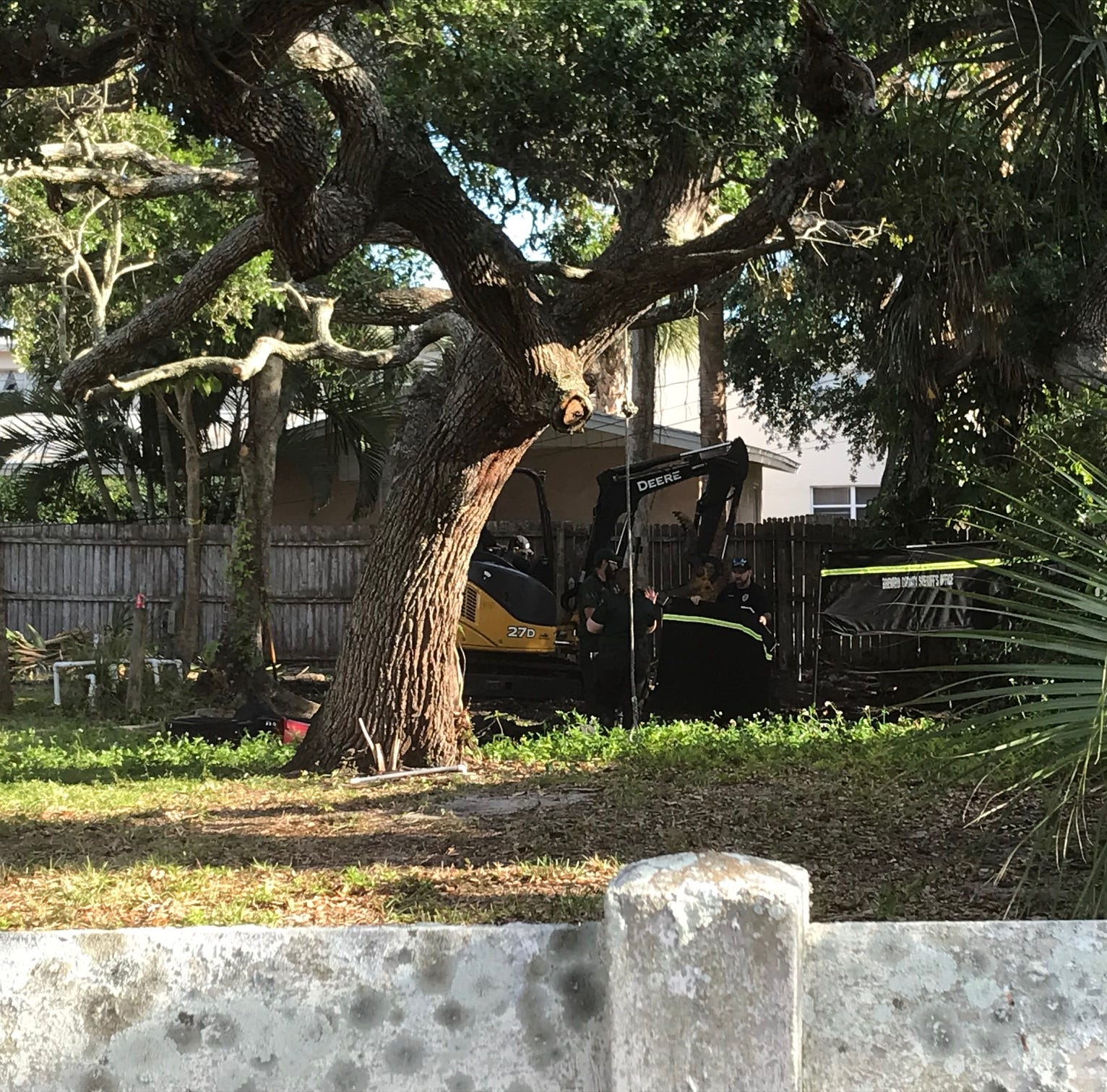 Cocoa Beach investigators conduct backyard excavation looking for a body; nothing found