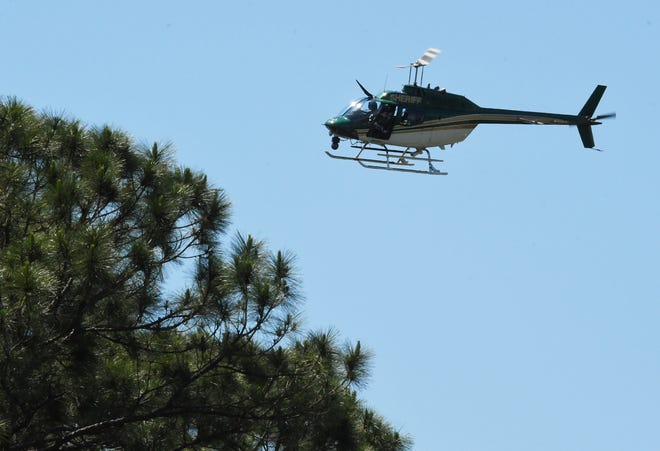 Fire rescue crews were searching an area along the Brevard County-Indian River County line for an aircraft that made a hard landing, authorities report.