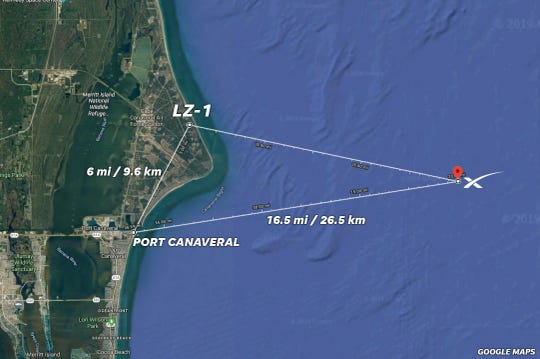 The new landing zone for SpaceX's CRS-17 mission.