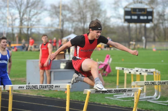 Tyler Bishop had his sights on regionals this year in the hurdles.