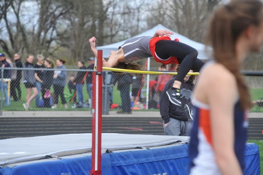 Lexi Evak holds the school record in high jump and qualified for regionals three times.