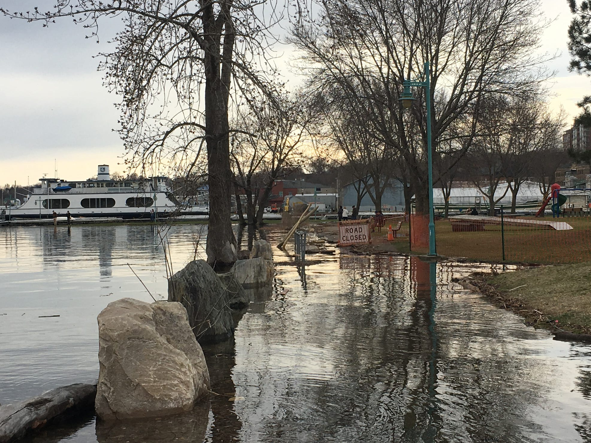 Portions of the Burlington Bike Path were closed due to high water on Tuesday, April 23, 2019.