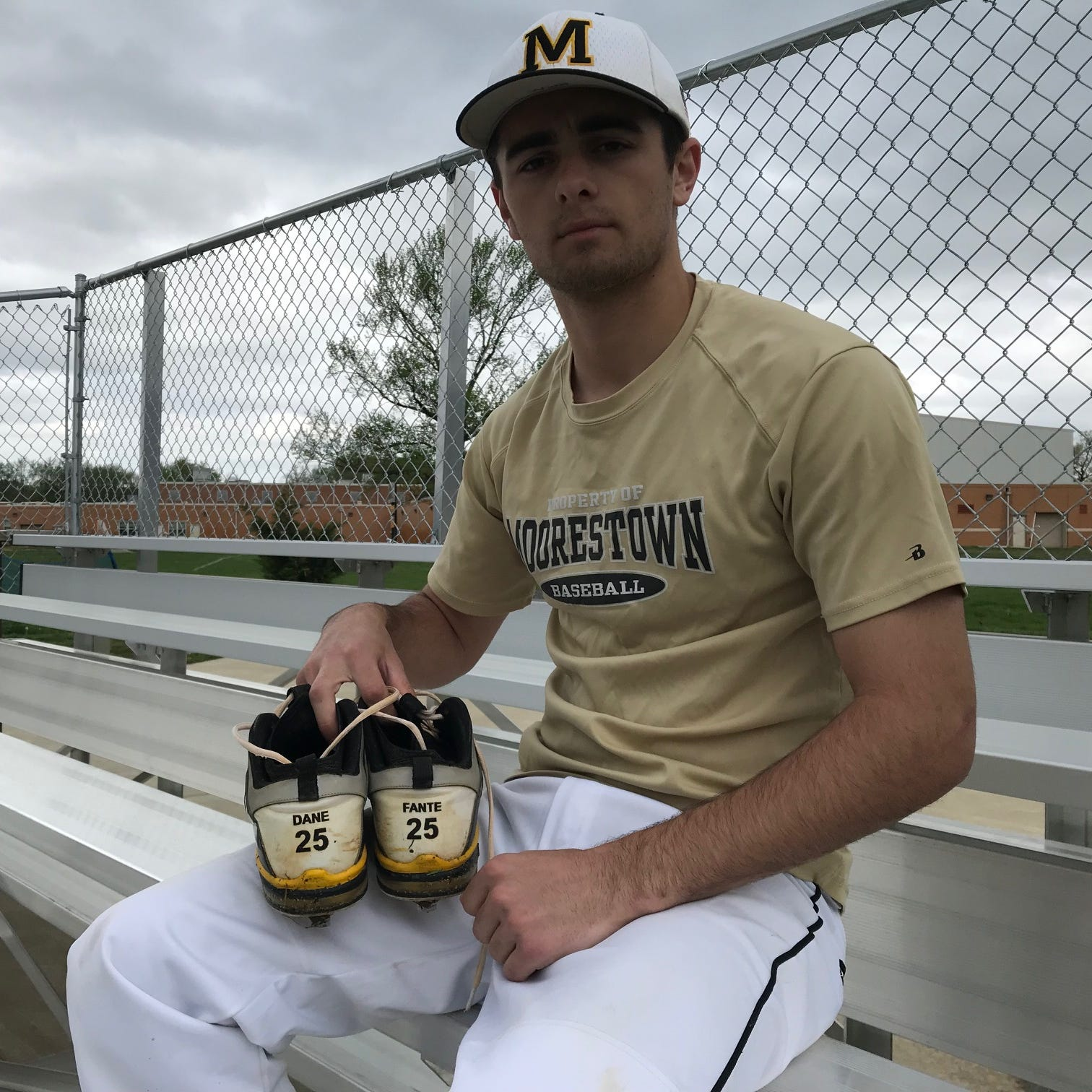 Baseball: Moorestown's Kevin McCarthy honors Dane Fante by wearing his cleats