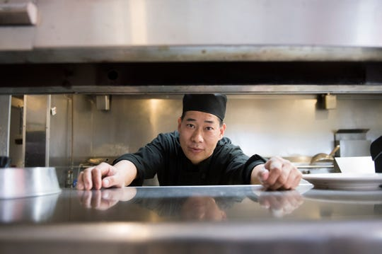 Chef and owner Steve Lin of Oceancrat The Boiling Seafood in Mount Laurel, N.J. Lin and his wife Brenda own the restaurant as well as multiple Megu Sushi spots, including locations in Cherry Hill  and Haddonfield.