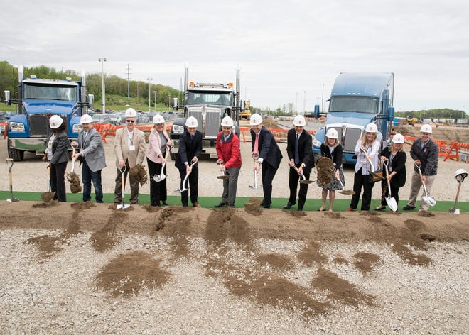 Chillicothe Mayor Luke Feeney, along with several other members of the Chillicothe City Council, participated in a groundbreaking ceremony for the expansion of Kenworth's current paint shop on Tuesday, April 24, 2019. The paint shop is projected to be in operation during the first part of 2021.