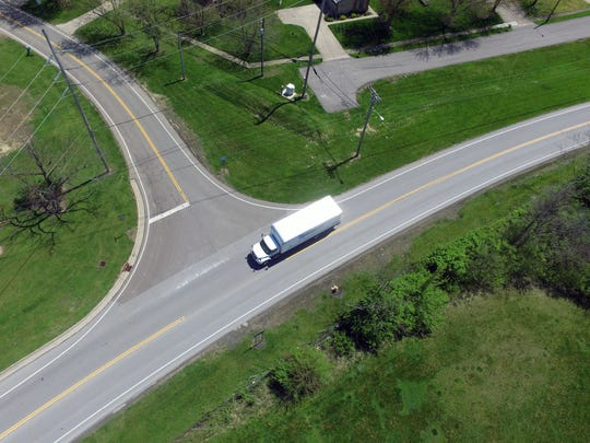 This summer Fairfield's first roundabout will be constructed at the intersection of River (truck) and Gray roads. Provided photo.