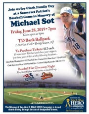 "Copy of ""Clark Family Day"" flier honoring Michael Sot"