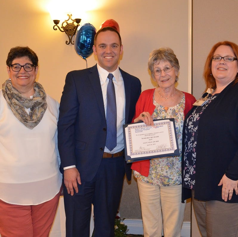 Robert Wood Johnson University Hospital Somerset honors Volunteer of the Year