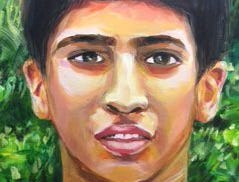 """""""My Benevolent Brother"""" by Richa Wadhawan was awarded First Place in the Teen category of last year's Union County Employee Art Show, featuring artworks by current employees, retirees, volunteers and family members."""