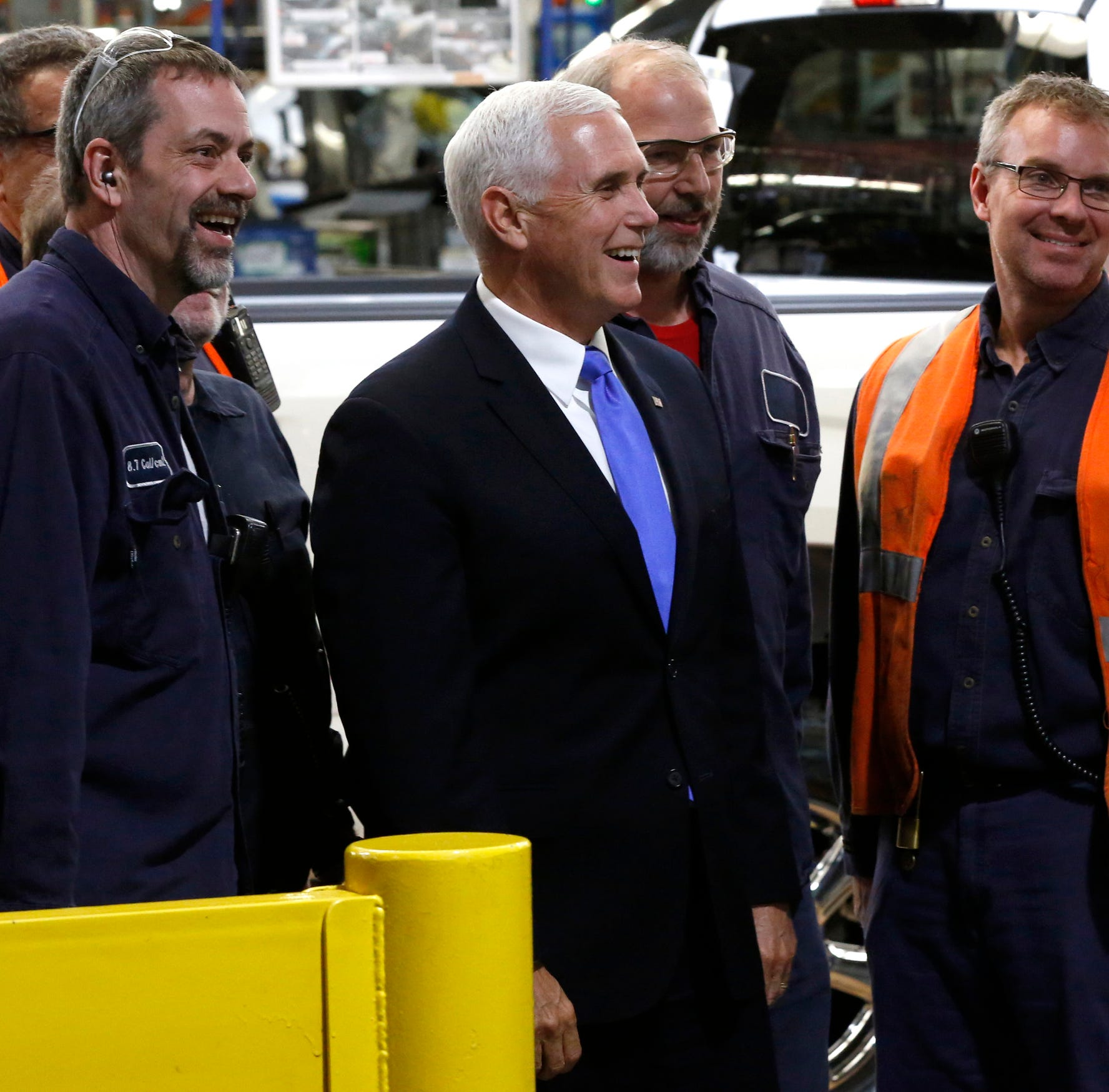 Pence touts proposed NAFTA replacement during metro Detroit visit