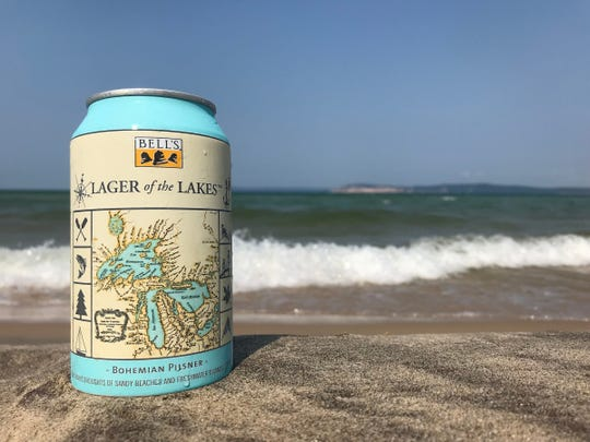 Lager of the Lakes (5% alcohol by volume) Bohemian pilsner by Bell's Brewery is available year-round.