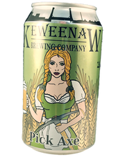 Pick Axe Blonde Ale (4.9% alcohol by volume) by Keweenaw Brewing Co. is made near Houghton in Michigan's Upper Peninsula.