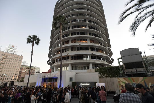 The Capitol Records Tower in Los Angeles.