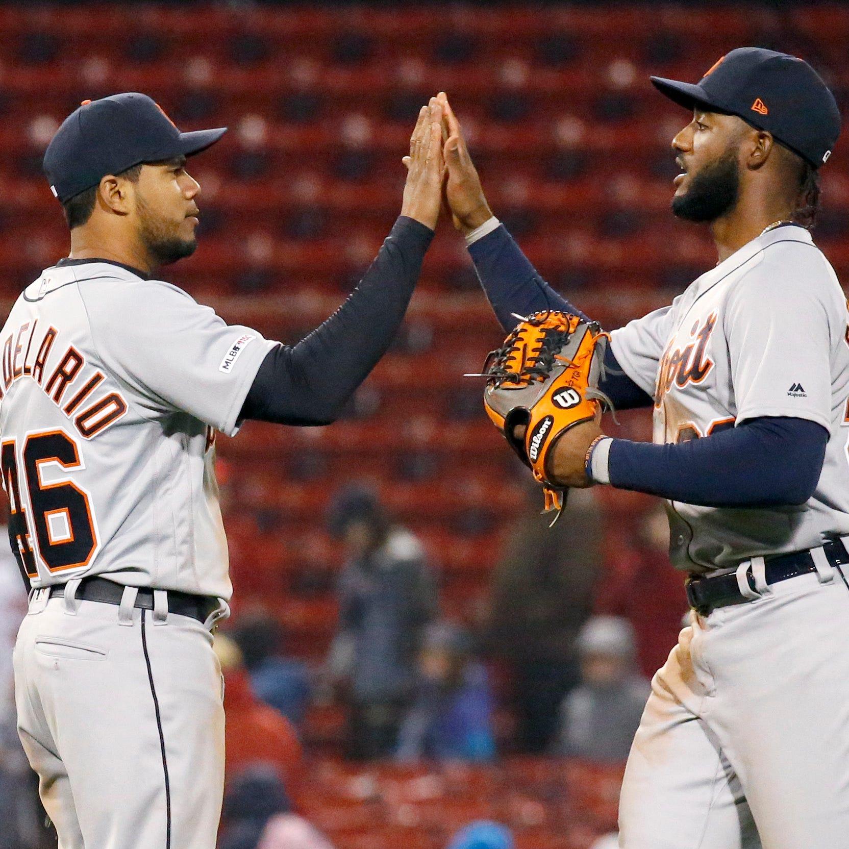 Brandon Dixon, gritty bullpen help Tigers complete doubleheader sweep