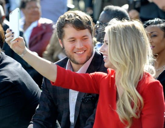 Lions quarterback Matthew Stafford reportedly returned to work Monday, about a week after his wife, Kelly, had surgery on to remove a tumor from her brain.