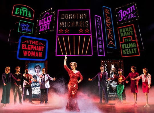"""Santino Fontana and company in """"Tootsie"""" at the Marquis Theatre. (Matthew Murphy)"""