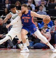 Pistons exec Ed Stefanski dismissed any notion of moving All-Star forward Blake Griffin, right, this offseason.
