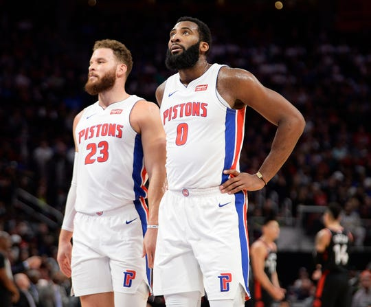 Rod Beard of The Detroit News hands out final grades for the 2018-19 Pistons, including Blake Griffin (23) and Andre Drummond (0).