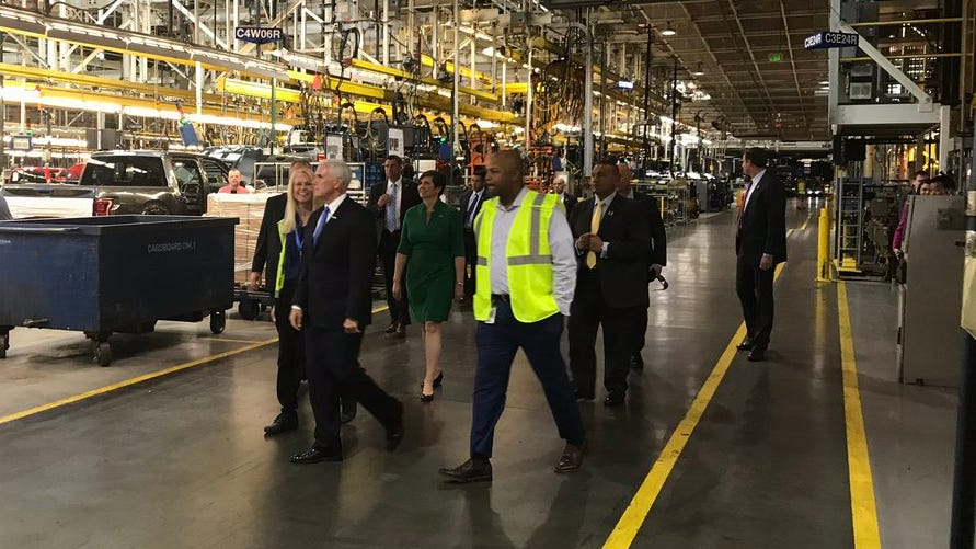 Pence pushes for approval of new trade agreement in Detroit-area visit
