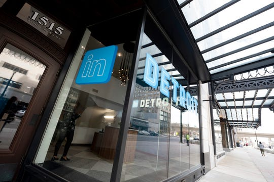 LinkedIn's newly opened office is on Woodward in Detroit.