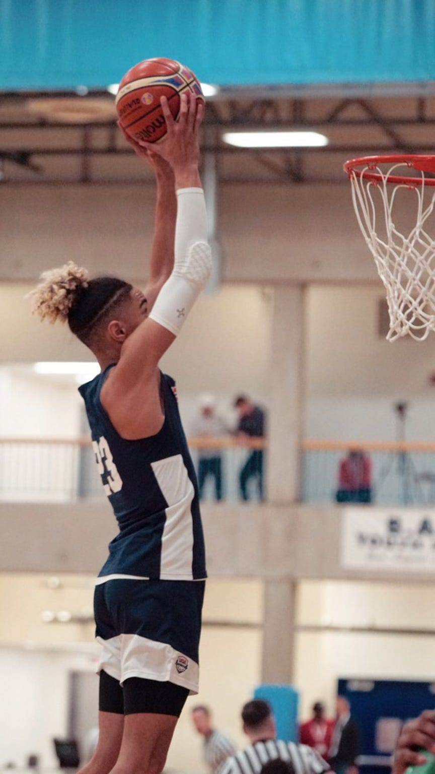 Khristian Lander recently attended the USA Men's Basketball Junior National Team Training Camp.