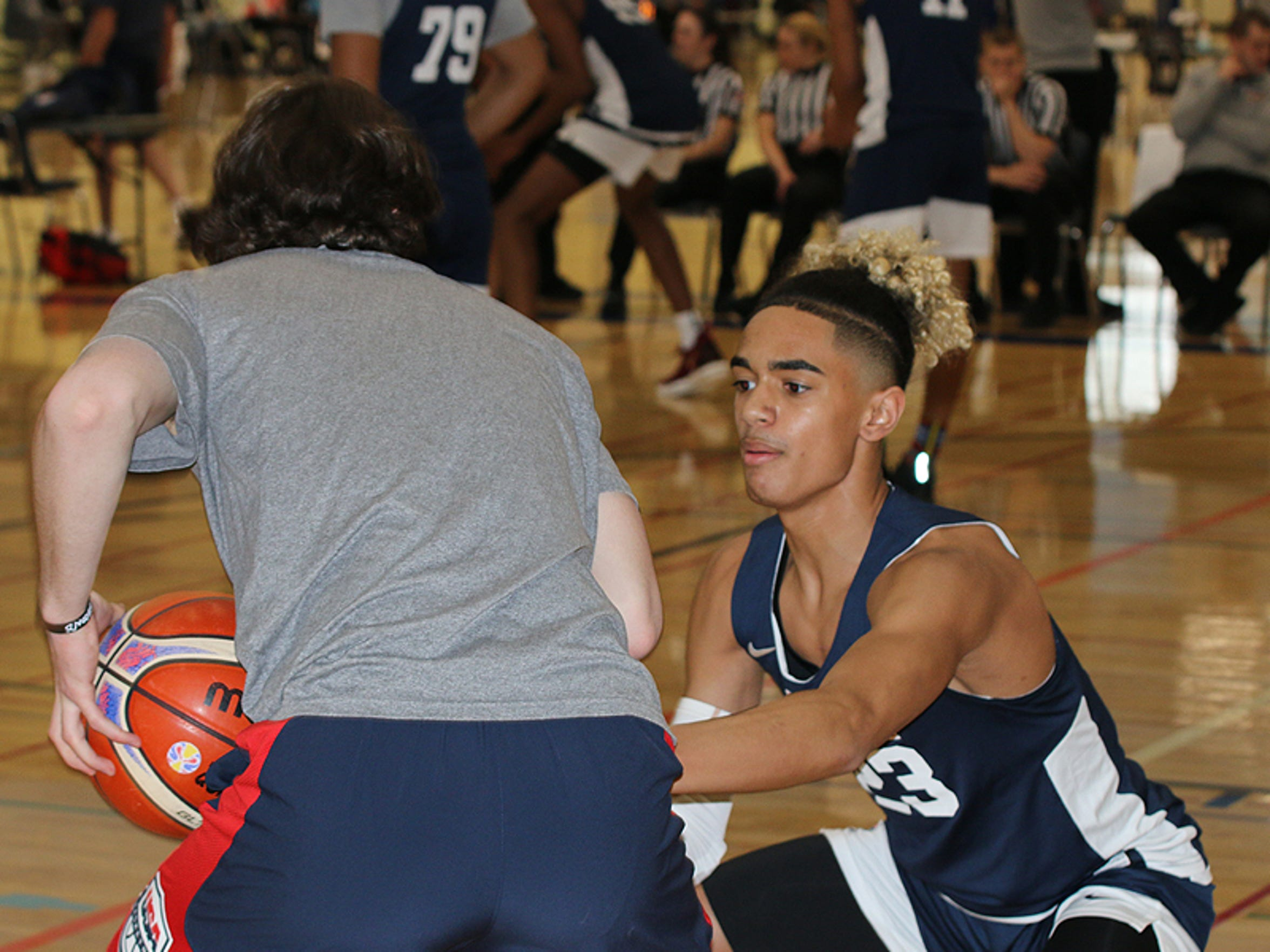 Khristian Lander recently attended the USA Basketball Junior National Team Minicamp.