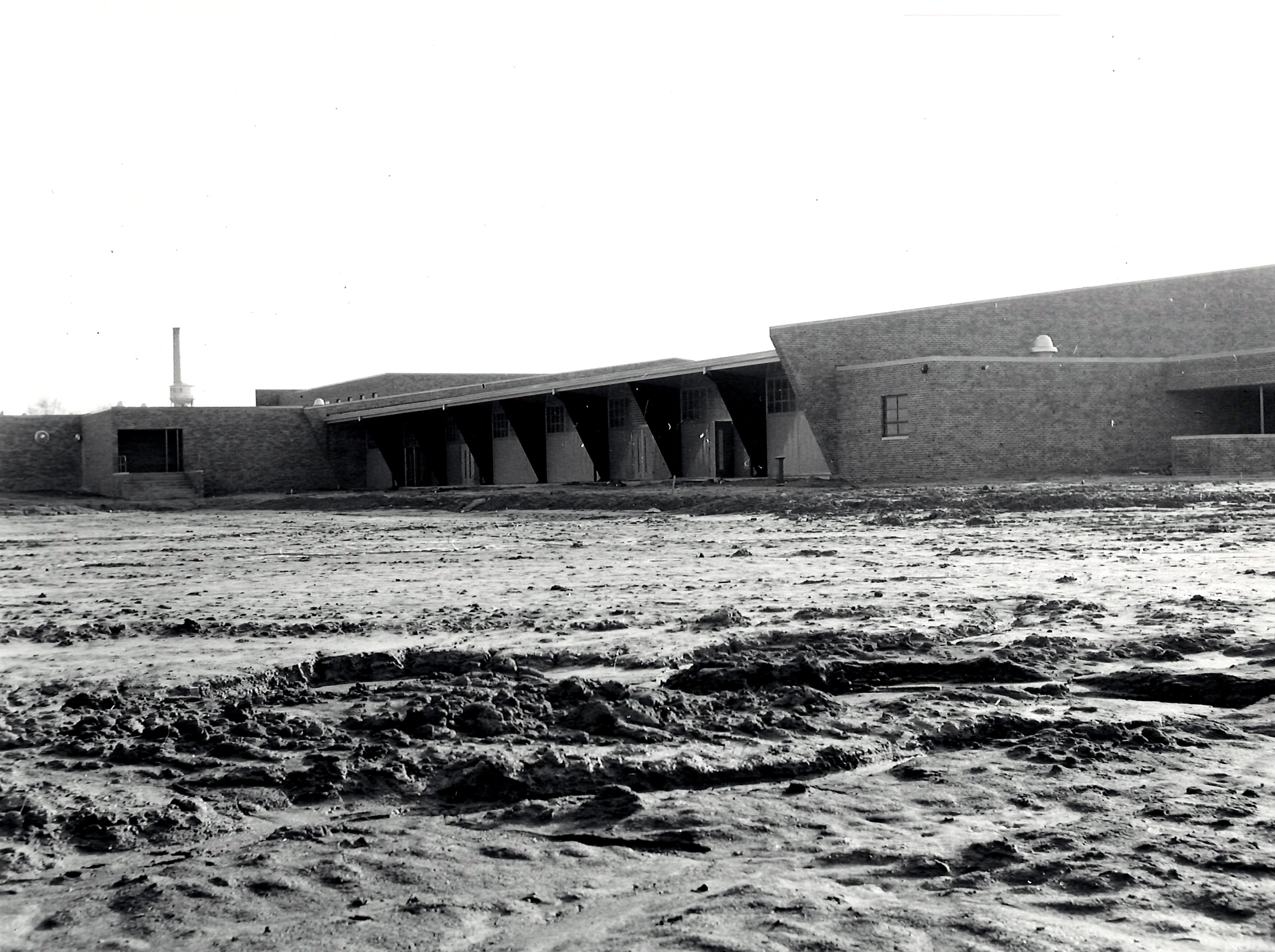 Construction of the old North High School gym in 1956.